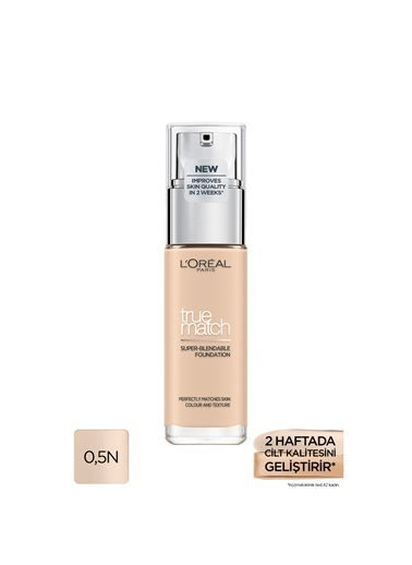 L'Oréal Paris L'Oréal Paris True Match Bakım Yapan Fondöten 0.5R ROSE PORCELAIN Ten